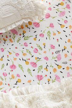 Slide View: 1: Cotton Muslin Crib Sheet