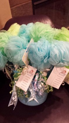 Loofah Baby Rattles Baby Shower In 2019 Baby Boy