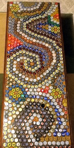 Beer bottle top table - something to do with all those caps we've been saving...