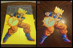 SS Goku Perler Bead Sprite by jnjfranklin