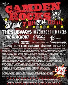 #CamdenRocks #Festival 2014