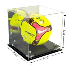7b80b1278 Deluxe Acrylic Soccer Ball Display Case with Risers and Mirror (A027)