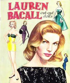 Lauren Bacall Paper Dolls