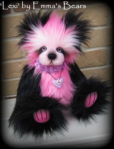 LEXI artist teddy bear Kit with painted eyes  12IN by EmmasBears, $35.00