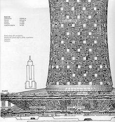 Dark Roasted Blend: Gigantic City-Structures of Paolo Soleri Architecture Drawings, Contemporary Architecture, Arcology, Architectural Elements, Architectural Sketches, Architectural Models, Building Art, Built Environment, City Buildings