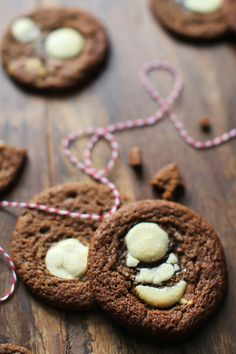 Chewy White Chocolate-Ginger Cookies.
