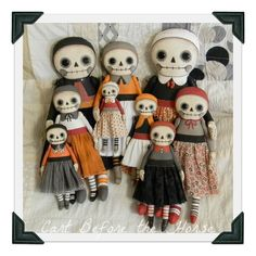 Raggedy Skeleton Halloween Day of the Dead Rag Dolls