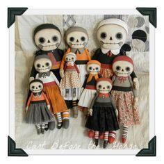 Raggedy Skeleton Halloween Day of the Dead Rag Dolls