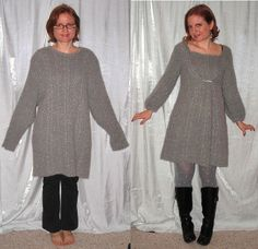 ((Sweater>Sweater Dress))  Before and After by sewyerown, via Flickr
