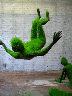 Lives of Grass: Living Sculptures by Mathilde Roussel
