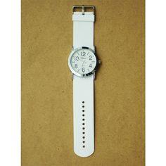 Reloj en color blanco con un diseño juvenil. Carátula grande con números muy visibles. Muy vanguardista y lo más novedoso en estilo. $219.00 https://enviaregalo.com/producto/accesorios-ella/reloj-blanco-con-numeros-grandes/
