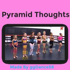Pyramid thought. Credit to #ggDance58
