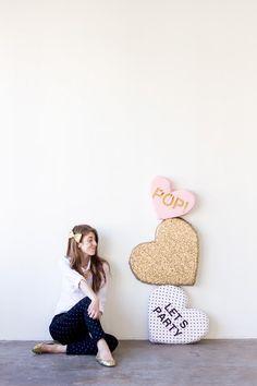 Conversación DIY Hearts felpa