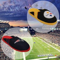 The Pittsburgh Steelers are facing off against the New England Patriots 9/10 for a great home opener!  Who's going to win?! Comment Below  #Slippers #Football #Patriots #Steelers #Preseason @patriots @steelers