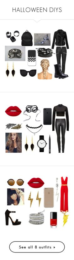 """""""HALLOWEEN DIYS"""" by luvuallthetime ❤ liked on Polyvore featuring Miss Selfridge, Isabel Marant, Masquerade, Hogan, The Row, Puma, Lime Crime, NARS Cosmetics, Chicnova Fashion and Paperself"""