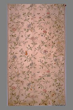 Piece (Met). 18th century, painted silk, Chinese for export.