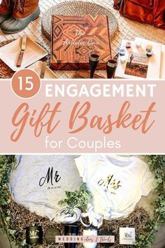 From a romantic date night to celebrate their engagement, new exciting decorations items for their shared life together, to helpful gifts for organizing and planning their wedding. Ideal gift baskets for newlyweds that any engaged couple will be thrilled to get. A list of 15 Engagement Gift Basket Ideas for Couples In different styles and budgets. Wedding Giveaways For Guests, Wedding Gifts For Guests, Wedding Welcome Bags, Beach Wedding Favors, Wedding Favor Boxes, Wedding Anniversary Gifts, Engagement Gift Baskets, Engagement Balloons, Engagement Gifts For Bride