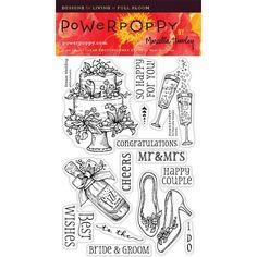 Power Poppy DREAM WEDDING Midsummer Stunner Clear Stamp Set PPJUN1603