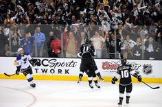 Dustin Brown and Anze Kopitar celebrating!