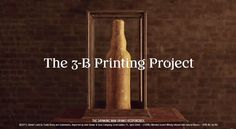 Whisky Brand '3B-Prints' A Bottle Out Of Honeycomb Using 80,000 Bees - DesignTAXI.com