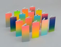 Brochures with fluorescent ink covers designed by Bond for the University of the Arts Helsinki