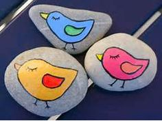 , Easy Rock Painting Animal Chicken Design Ideas For Kids ~ Easy Rock ...