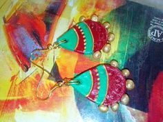 Clay bright colour earring
