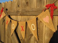 Rags bows on bunting