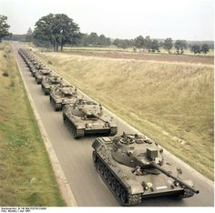 """GERMANY 1965 (?) PINNER """"International Pipe &Supply """"identifies as Leopard 1 which entered service in West Germany in 1965"""