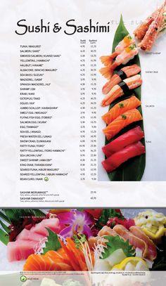 Main Menu | Kabuki Restaurant Spanish Mackerel, Main Menu, Sea Bass, Halibut, Smoked Salmon, Sashimi, Food Menu, Creative Food