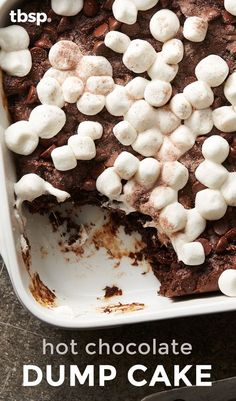 No need to decide between hot cocoa and chocolate cake – with this decadent dump cake, you can have both! Perfect cake for the holidays.