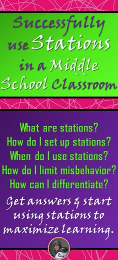 Read all about successfully implementing stations as a learning activity in your middle school classroom