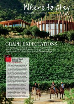 Grape Expectations: Where To Stay | Condé Nast Traveller UK - January 2013