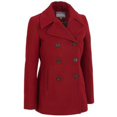 Web Buster Double Breasted Wool-Blend Peacoat Was: $300.00                     Now: $119.98
