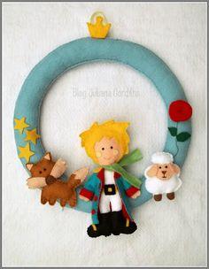 """Guirlanda / Porta maternidade """"O Pequeno Príncipe"""" ♥"""