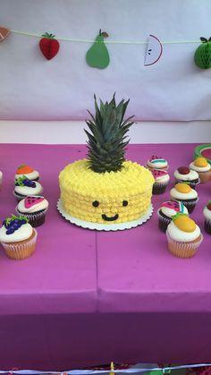 "Tutti Fruitti/ Birthday ""Angela's TWO-tti Fruitti Birthday Party Cake"