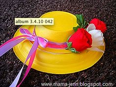 Paper Plate Easter Hats...just one of the ideas from this site about making things with paper plates