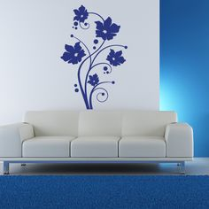 Fresh Tendril Floral Wall Decal (20in x 31in )