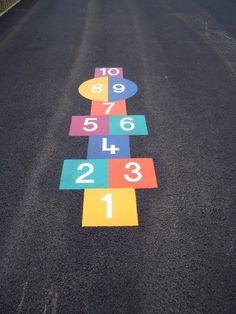 Playground, 1, Backyard, Games, Ideas, Sidewalk, Outdoor, School Games, Paint Games
