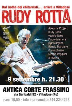 Rudy Rotta - Acoustic Project. Tutti i tuoi eventi su ViaVaiNet, il portale…