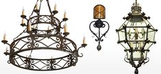 Wrought Iron Lighting, Mexican Iron Chandeliers, Wrought Iron ...