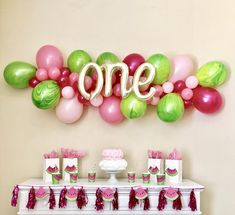 Balloon Garland DIY Kit~Watermelon Balloon Garland~One in a Melon Party~First Birthday~Watermelon Party Balloons~Balloon Arch~Tutti Fruitti Ballon Girlande DIY KitWassermelone Ballon … Watermelon Birthday Parties, 1st Birthday Party For Girls, First Birthday Decorations, First Birthday Themes, First Birthdays, Birthday Ideas, Watermelon Party Decorations, Watermelon Baby, Birthday Garland