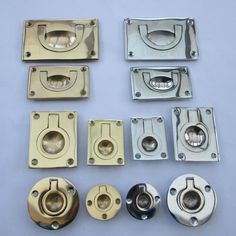 FURNITURE CABINET CUPBOARD DOOR RECESSED MILITARY FLUSH INSET RING PULL HANDLES