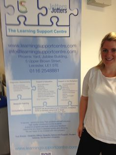 This is Amy our care coordinator representing us at the 'Welcome to DMU' weekend event in September 2014