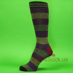 Purple Yellow Red Striped Mans Socks with Zig Zag Stripe on Welt , Argyle Socks For Men Argyle Socks, Striped Socks, Groomsmen Socks, Wedding Day Gifts, Green And Purple, Blue, Orange Fashion, Zig Zag, Black Stripes