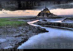Mont Saint-Michel, Manche, Normandy, France. © J.D. Dallet / age fotostock - Stock Photos, Videos and Vectors