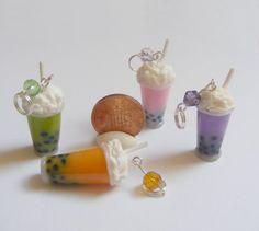 Boba Bubble Tea Miniature Food Necklace Pendant  by NeatEats, £12.99