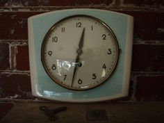 Vintage Ceramic Wall Clock - Baby Blue - Made in Germany