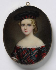 Beautiful English Miniature Portrait by   William Egley 1826 - 1916
