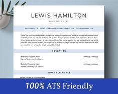This Professional resume template is just what you need to freshen up that old resume! Creative and Sophisticated while still being professional. Modern Resume Template, Resume Templates, Cover Letter Template, Letter Templates, Cv Simple, Executive Resume Template, Nursing Resume, Resume Writing Tips, Professional Resume